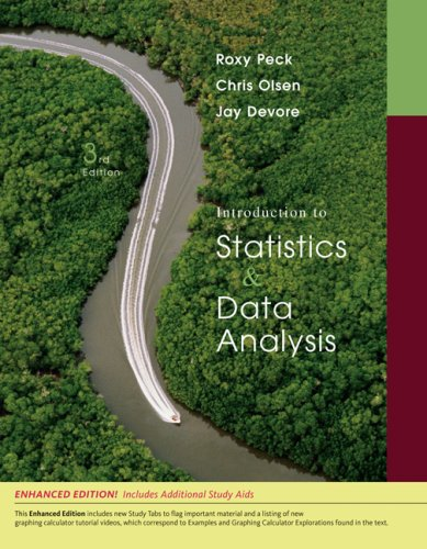 Introduction to Statistics & Data Analysis (3/e)